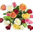 Bouquet of roses from above — Stock Photo