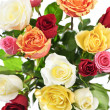 Bouquet of roses from above — Stock Photo #4468537