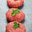 Hamburger patties — Stock Photo