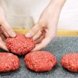 Cooking with ground beef — Stock Photo