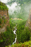 Canyon of Spahats Creek in Wells Gray Provincial Park, Canada — Stock Photo