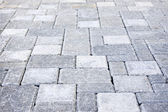Interlocking stone driveway — Stock Photo