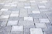 Interlocking stone driveway — Stock Photo