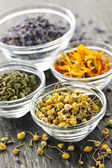 Dried medicinal herbs — Stock Photo