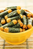 Rice and seaweed crackers Nori Maki — Stock Photo