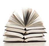 Pila de libros abiertos — Foto de Stock