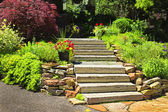 Natural stone landscaping — Stock Photo