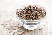 Brown flax seed — Stock Photo