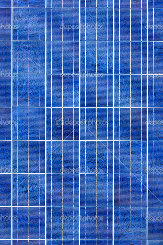 Surface of alternative energy photovoltaic solar panel — Stock Photo #4465209