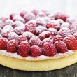 Raspberry tart - Stock Photo