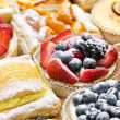 Assorted tarts and pastries - Stock Photo