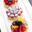 Fruit tarts - Stock Photo