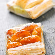 Royalty-Free Stock Photo: Pieces of fruit strudel