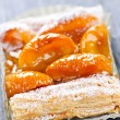 Stock Photo: Apricot fruit strudel