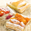 Stock Photo: Pieces of fruit strudel