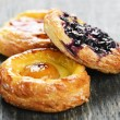 fruit danishes — Stock Photo