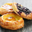 Stock Photo: Fruit danishes