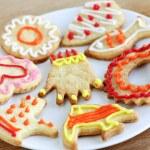 Plate of homemade cookies — Stock Photo