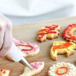 Decorating cookies — Stock Photo #4471635