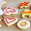 Decorating cookies — Stock Photo