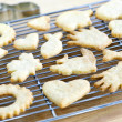 Cooling freshly baked cookies — Stock Photo #4471653