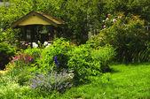 Landscaped garden — Stock Photo