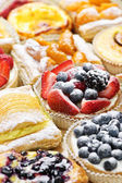 Assorted tarts and pastries — Stock Photo