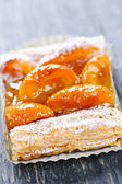 Apricot fruit strudel — Stock Photo