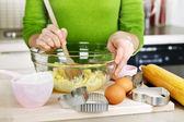 Misturar ingredientes para biscoitos — Foto Stock