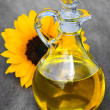 Sunflower oil bottle — Stock Photo #4482374