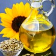 Sunflower oil bottle — Stock Photo #4482375