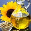 Sunflower oil bottle - Foto Stock