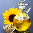 Stock Photo: Sunflower oil bottle