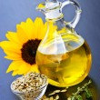 Sunflower oil bottle — Stock Photo #4482377