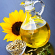 Sunflower oil bottle — Stock Photo