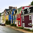 Stock Photo: Colorful houses in Newfoundland