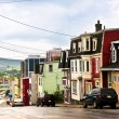 Colorful houses in Newfoundland — Stock Photo