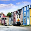 Colorful houses in St. John's — Stock Photo #4482390