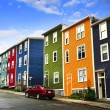 Colorful houses in St. John's — Stock Photo #4482397