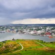 Cityscape of Saint John's from Signal Hill — Stock Photo