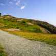 Long path to Cabot Tower on Signal Hill - Stock Photo