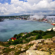 Cityscape of Saint John's from Signal Hill - Stock Photo