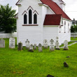 St. Luke's Church and cemetery in Placentia - Stock Photo