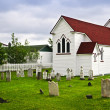 Stock Photo: St. Luke's Church and cemetery in Placentia