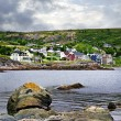 Fishing village in Newfoundland - Stock Photo