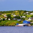 Fishing village in Newfoundland - Zdjcie stockowe