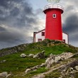 Stock Photo: Lighthouse on hill