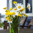wildflowers bouquet at cottage — Stock Photo