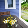 Wildflowers bouquet at cottage - ストック写真