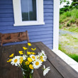 Stock Photo: Wildflowers bouquet at cottage